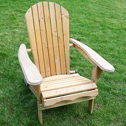 Living Accents Folding Fir Wood Adirondack Lawn Yard Porch