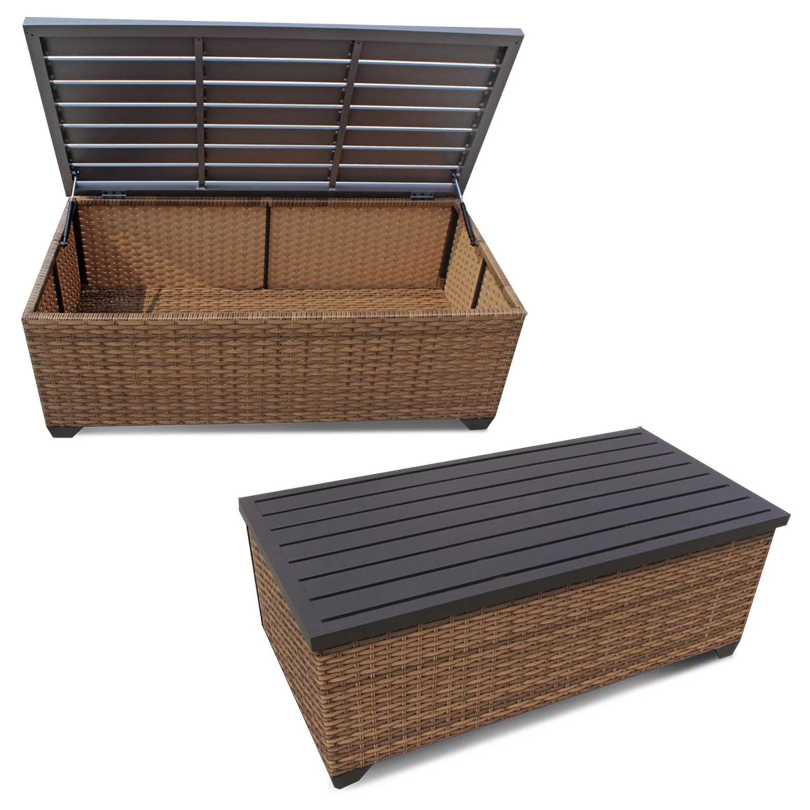tk classics laguna outdoor storage coffee table walmart com