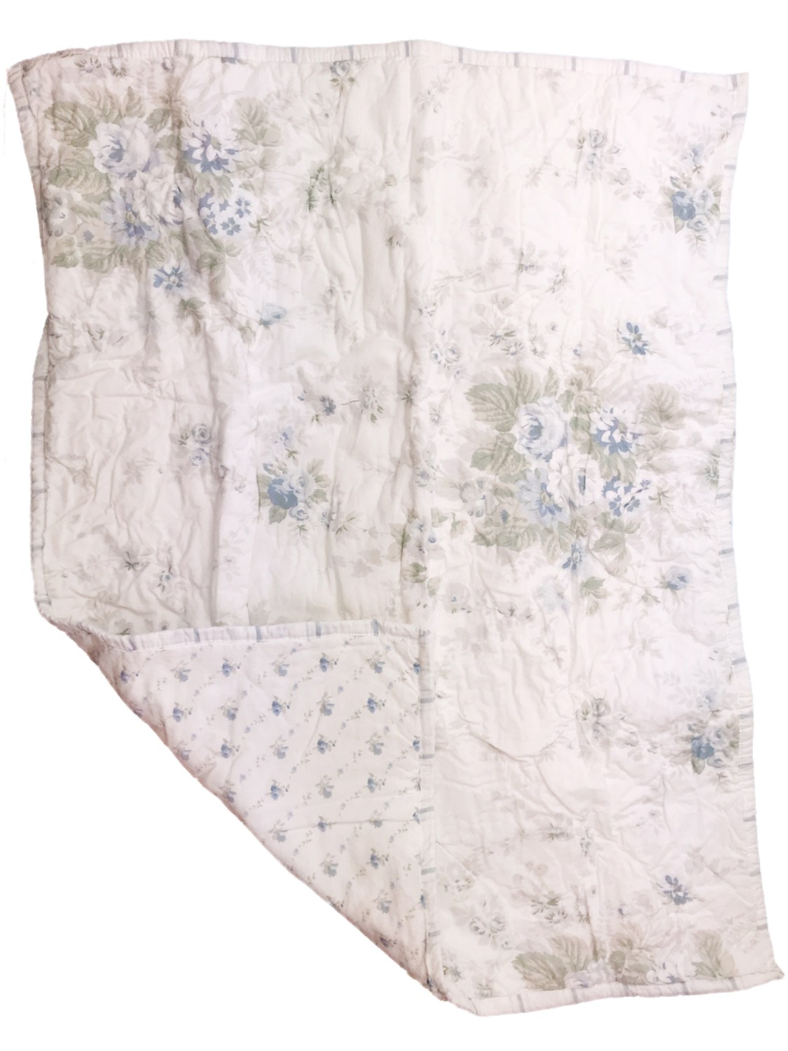 simply shabby chic quilted blue rose pillow sham standard size pillowcase walmart com