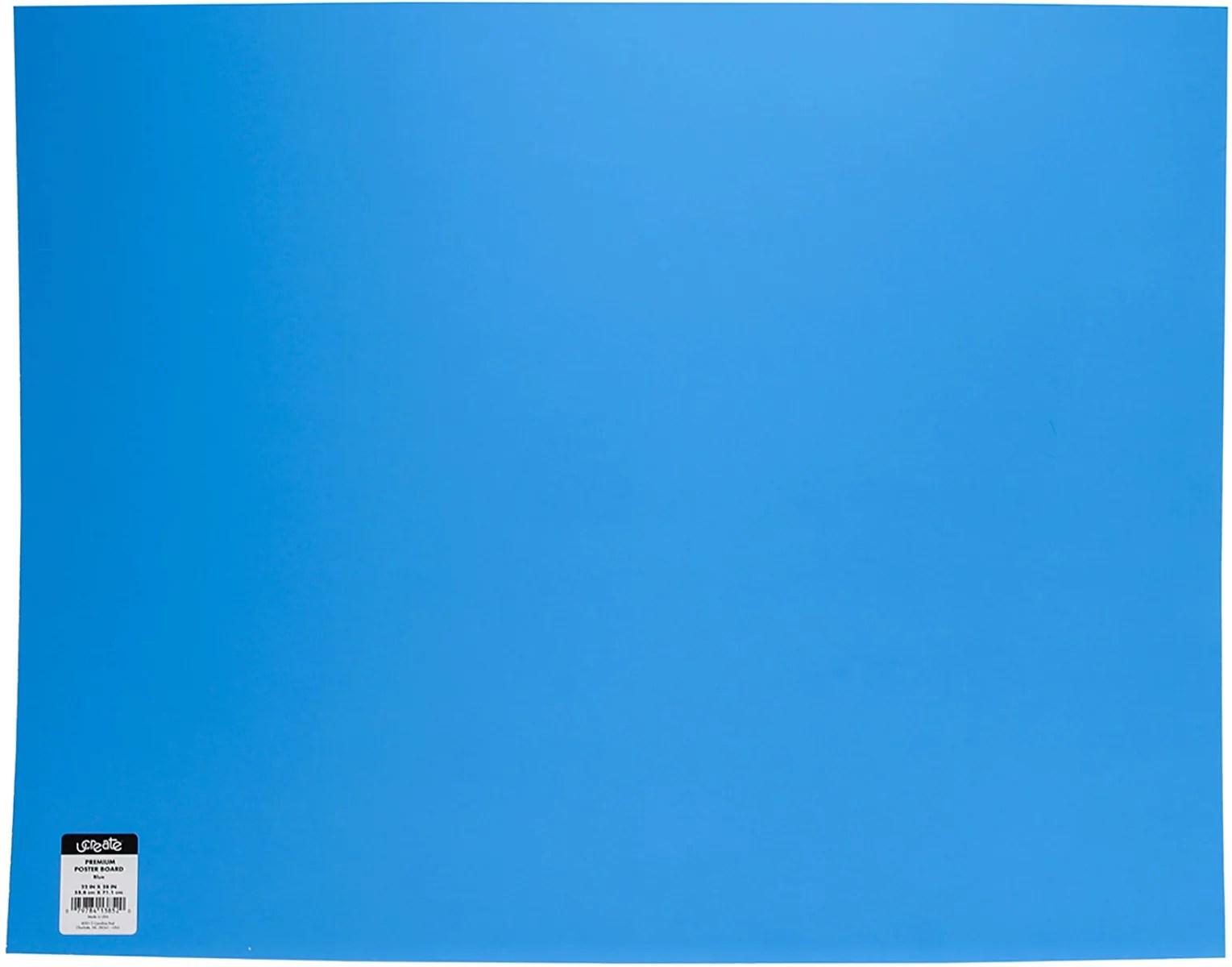 ucreate foam board blue poster board paper 22 x 28 single sheet