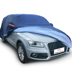 peva universal fit breathable car cover outdoor waterproof uv snow rain dust resistant suv 3xxl fits up to 208 inches dark blue walmart com [ 1100 x 1100 Pixel ]