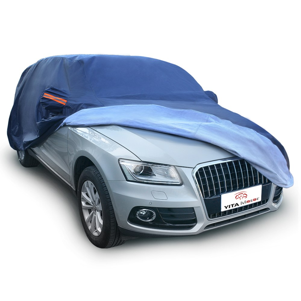 medium resolution of peva universal fit breathable car cover outdoor waterproof uv snow rain dust resistant suv 3xxl fits up to 208 inches dark blue walmart com