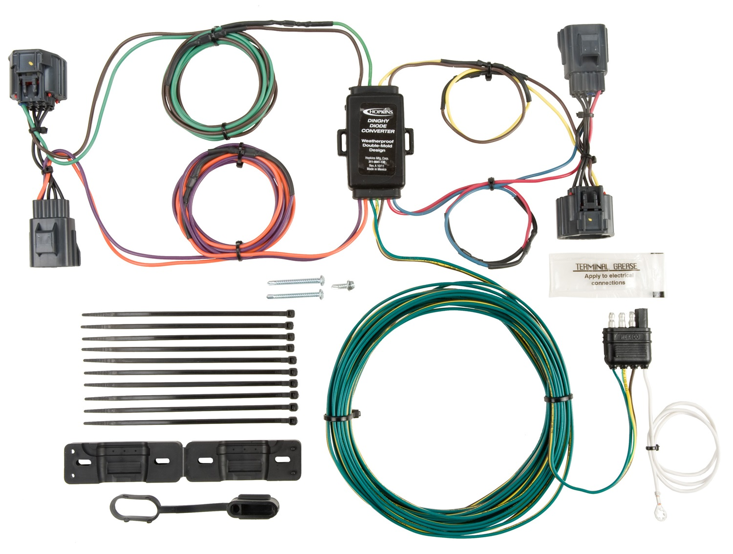 hight resolution of hopkins towing solution 56205 plug in simple vehicle to trailer wiring harness walmart com