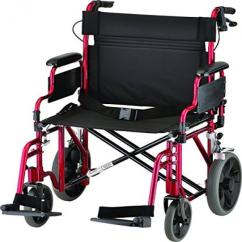 Transport Wheel Chair Ricon Lift Nova Medical Products 22 Heavy Duty Wheelchair Red Walmart Com
