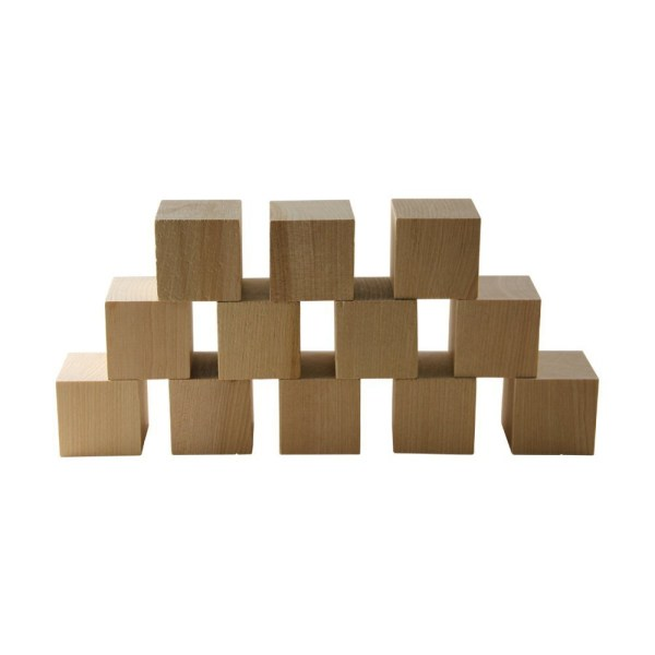 Wooden Cubes 1.5 - Baby Wood Square Blocks Puzzle Making Crafts And Diy Projects