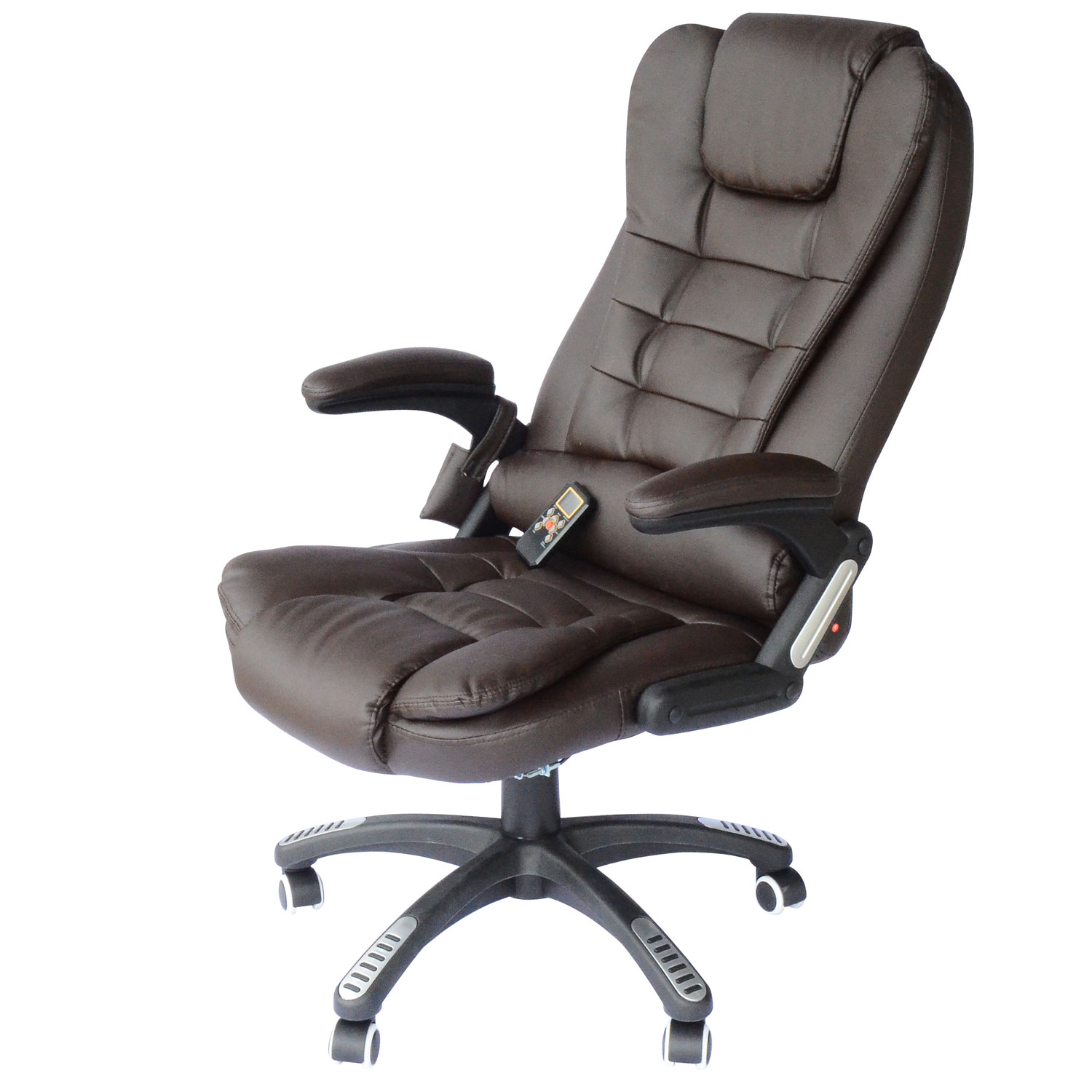 Reflexology Chair Homcom Deluxe Heated Vibrating Pu Leather Massage Recliner