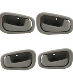 for 98 02 chevrolet prizm toyota corolla gray interior inner door handle 4pcs full set 98 99 00 01 02 dh44 walmart com [ 1900 x 1900 Pixel ]