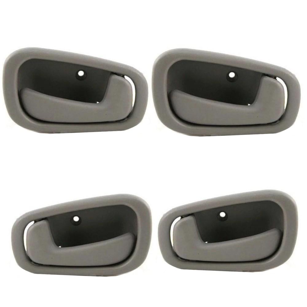 medium resolution of for 98 02 chevrolet prizm toyota corolla gray interior inner door handle 4pcs full set 98 99 00 01 02 dh44 walmart com
