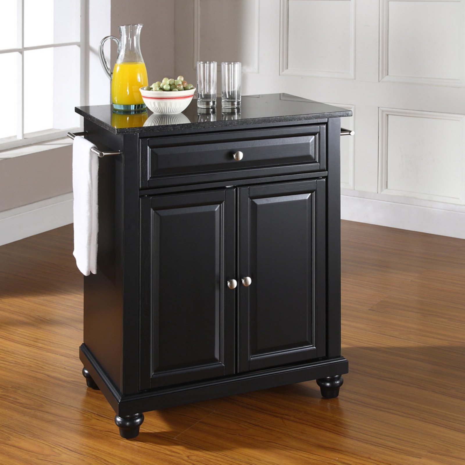 Crosley Furniture Cambridge Solid Black Granite Top Portable Kitchen