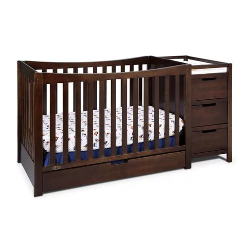 dream on me brody 5 in 1 convertible crib with changer white