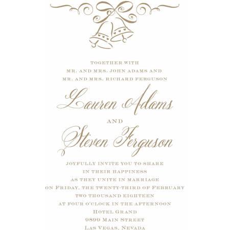 Wedding Bells Standard Invitation