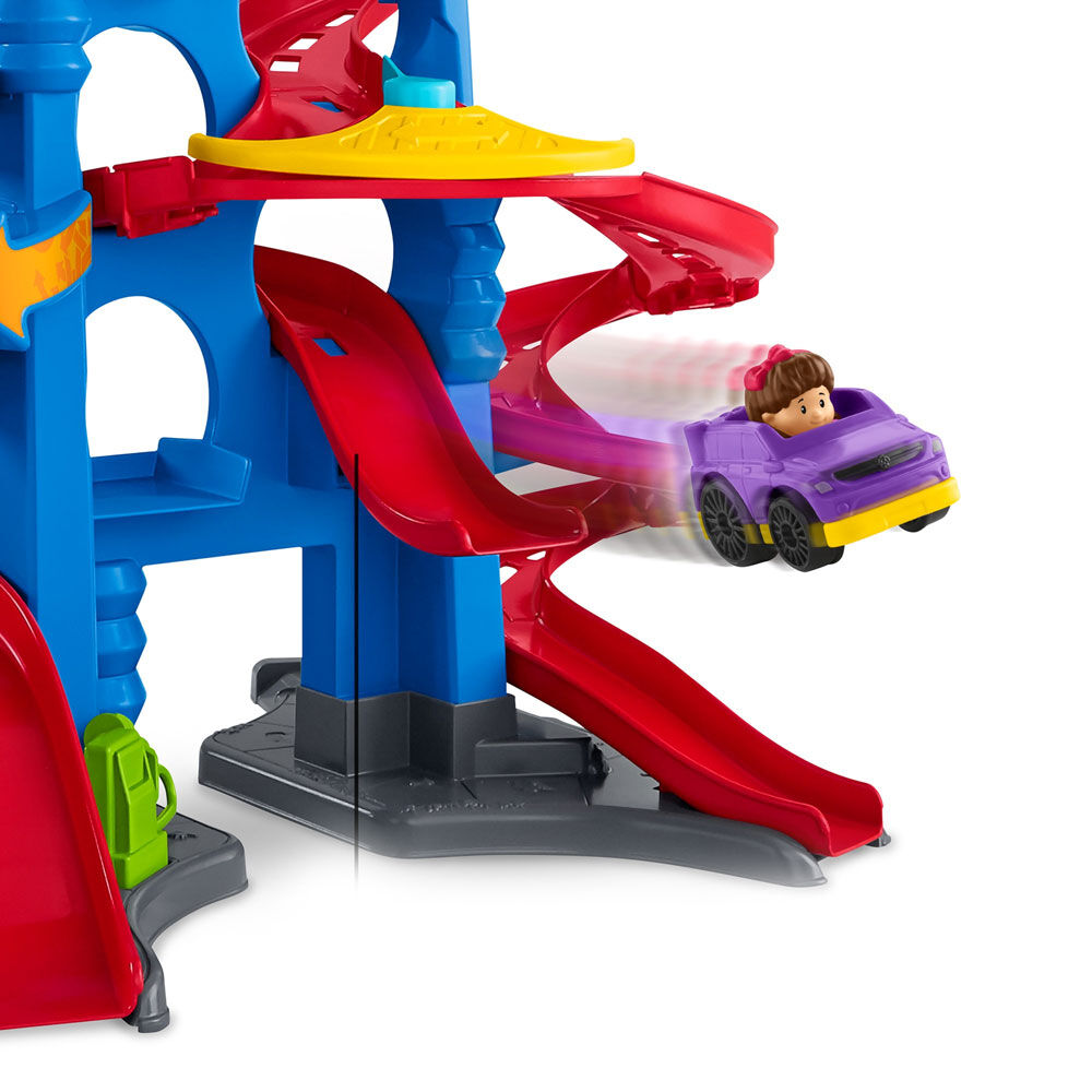 Little People Take Turns Skyway Track Set French Edition