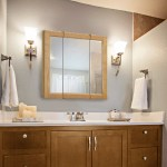 Design House 545277 Claremont Tri View Medicine Cabinet Mirror 24 Honey Oak Walmart Com Walmart Com
