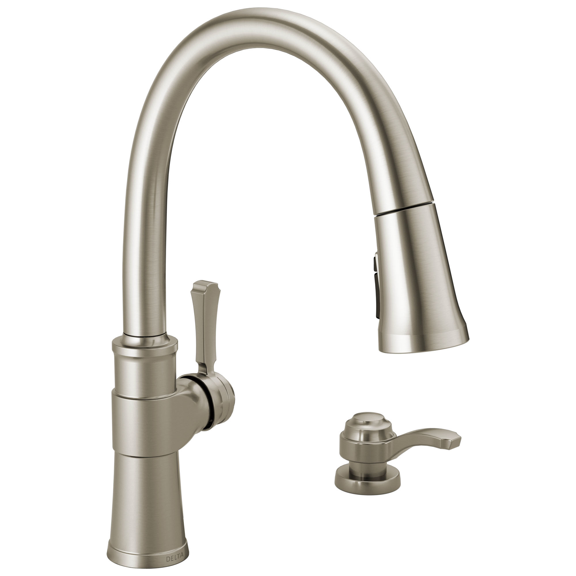 delta 19964z sd dst spargo 1 8 gpm single hole pull down kitchen faucet