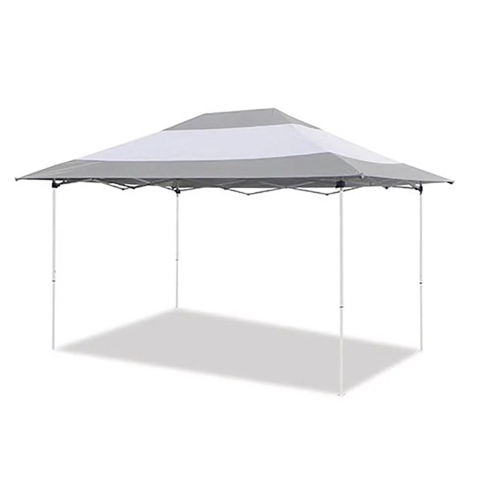 z shade prestige 14 x 10 foot instant canopy outdoor patio shelter grey white