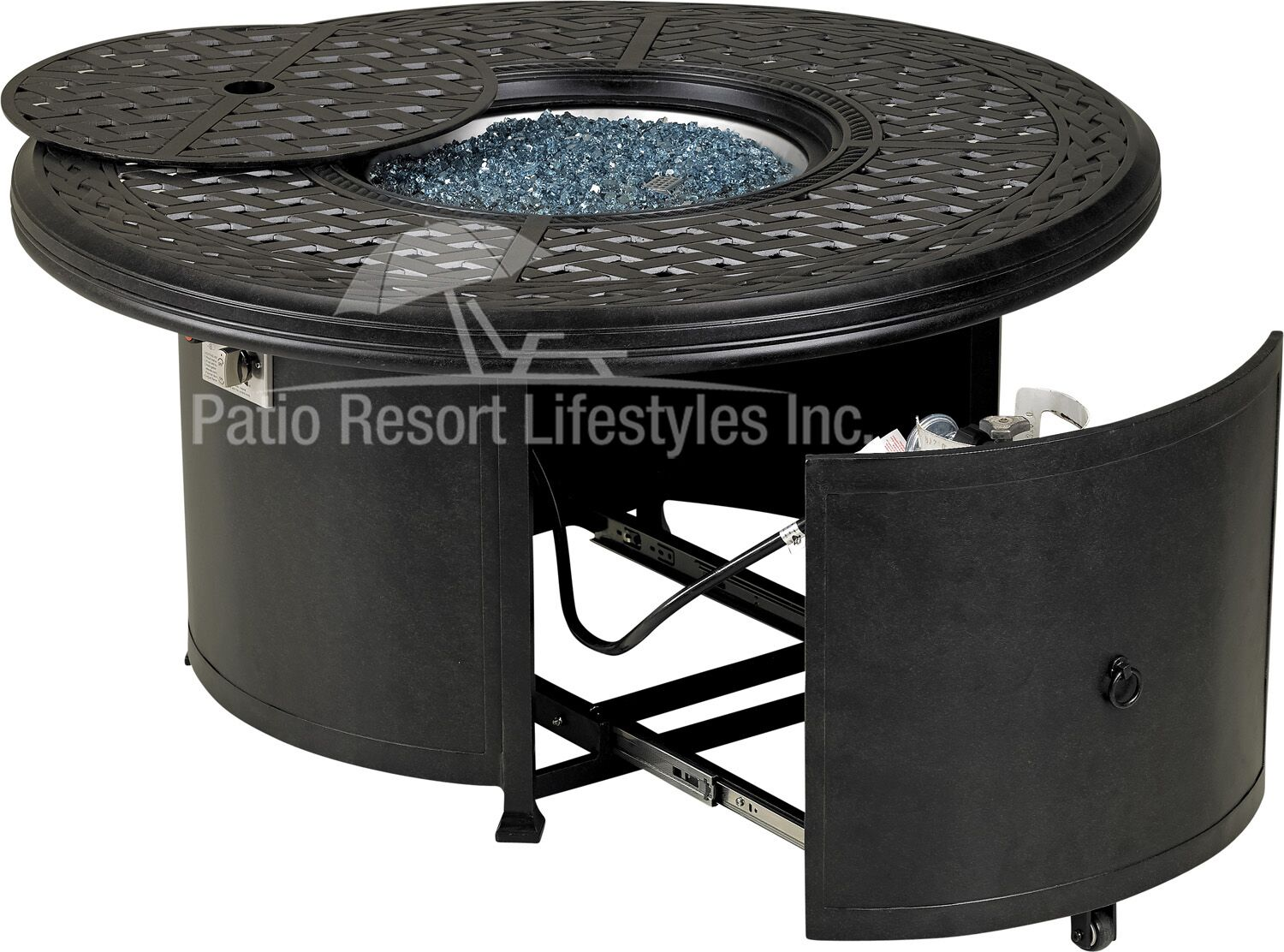 48 windsor series round fire table w built in burner accessory