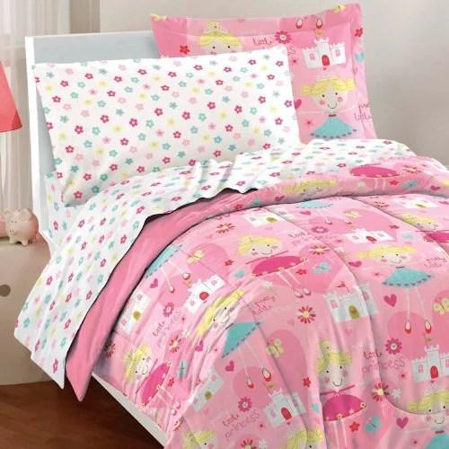 dream factory pretty princess ultra soft microfiber girls comforter set pink twin