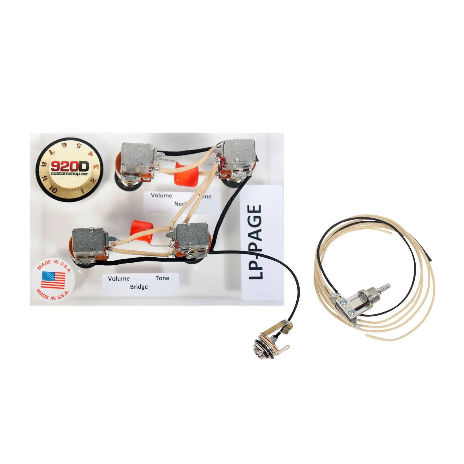 920d custom shop les paul jimmy page wiring harness w switchcraft jimmy page wiring harness sg [ 1600 x 1600 Pixel ]