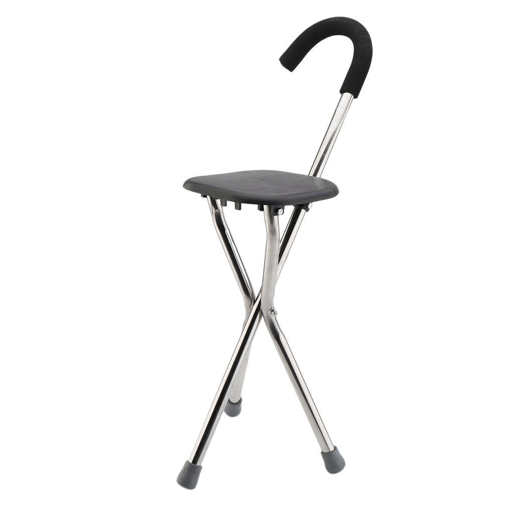 Stainless Steel Elderly Folding Portable Walking Stick