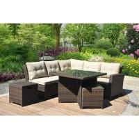 Hampton 5 Piece Outdoor Wicker Patio Furniture Set 05b ...
