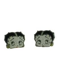 Sterling Silver Betty Boop Stud Earring - Walmart.com