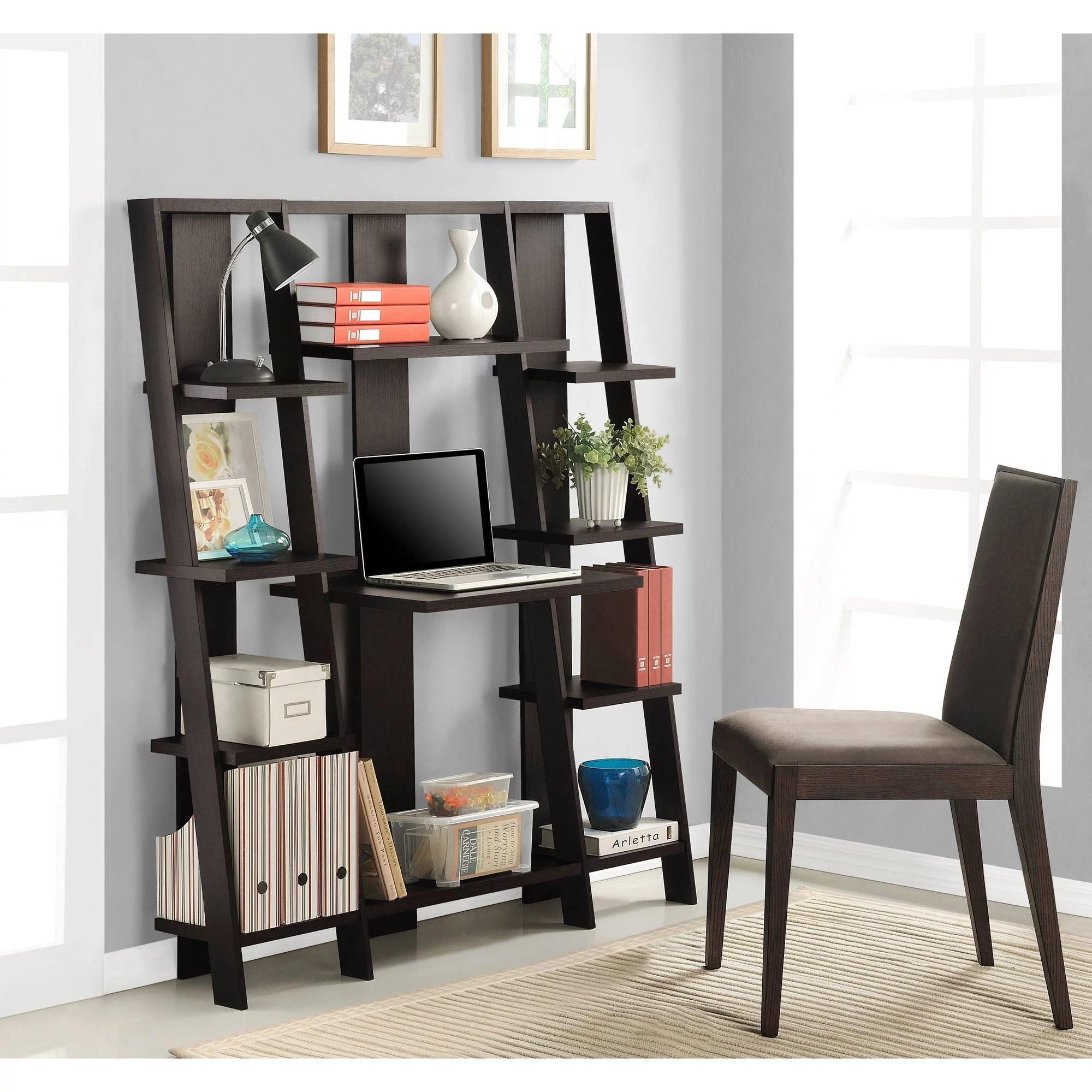 Ameriwood Home Gradient Ladder DeskBookcase Espresso