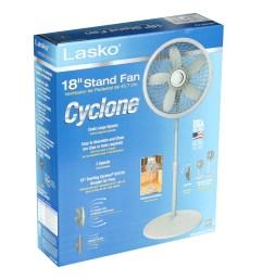 lasko 18 stand 3 speed fan with cyclone grill model s18902 white walmart com [ 2428 x 2391 Pixel ]