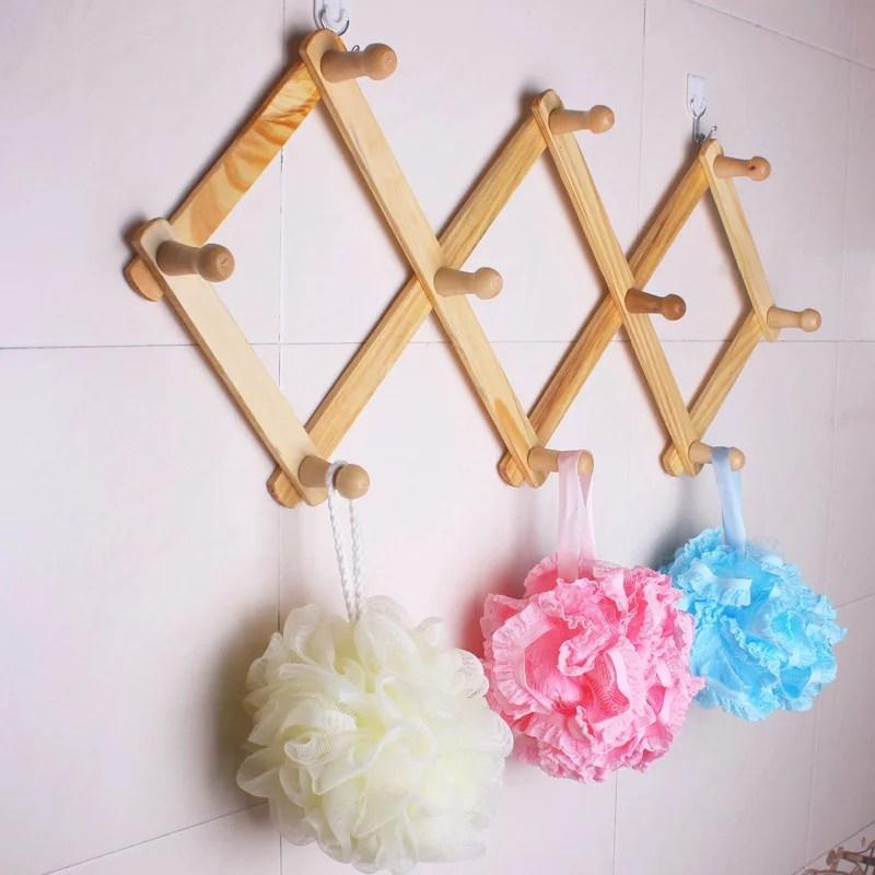 10 hook torched wood wall mounted expandable wooden hat mug coat office accordion peg coat rack hanger walmart com