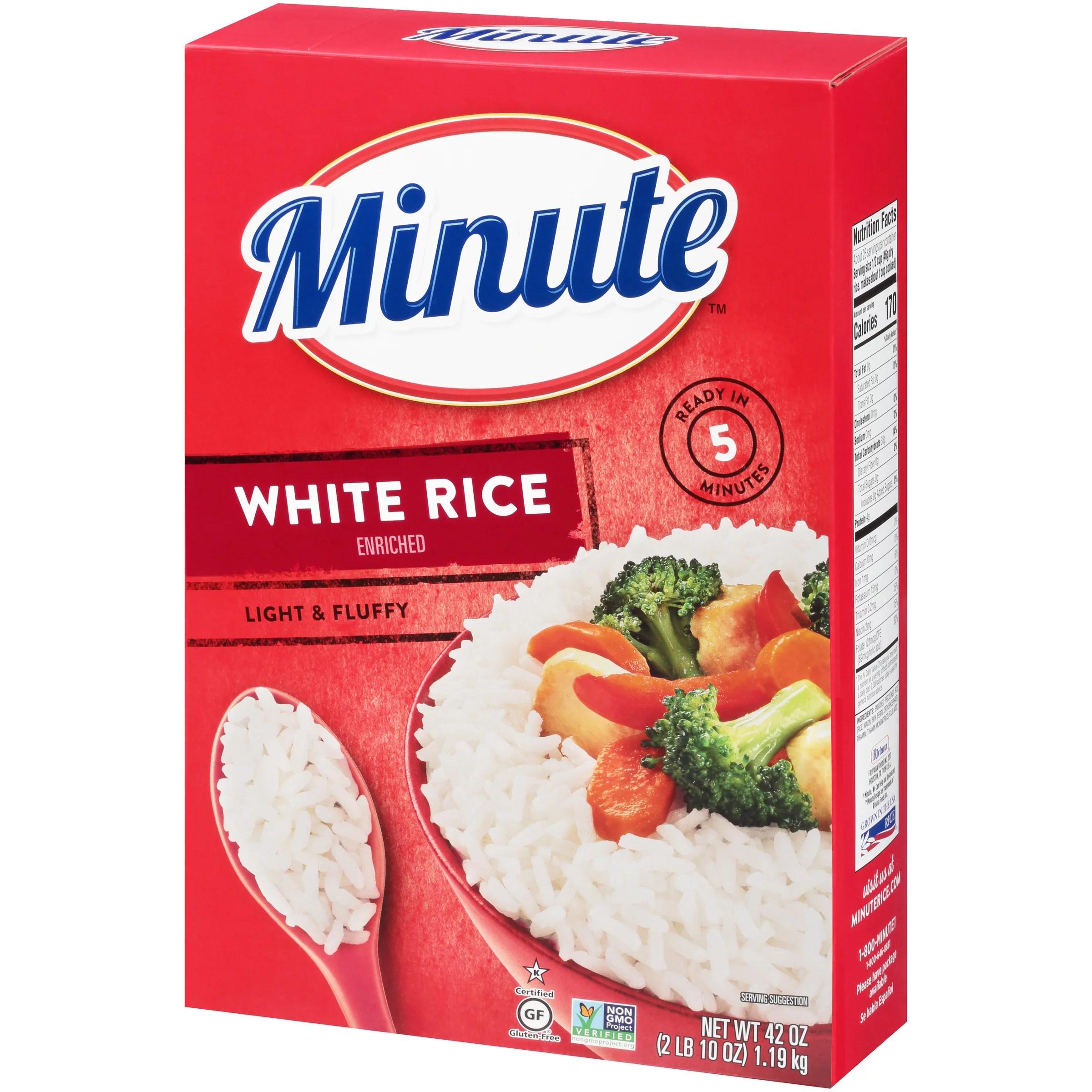 minute white rice instant white rice light fluffy quick rice 42 oz