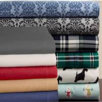 Cuddle Duds Scottie Dog Flannel Sheet Set Tan Puppies Full
