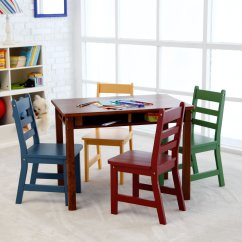 Children Table And Chairs Rocker Chair Dimensions S Tables Design Ideas Lipper Childrens Walnut Rectangle 4