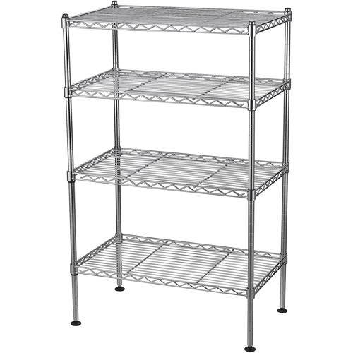 muscle rack 20 w x 12 d x 32 h four level wire shelving chrome
