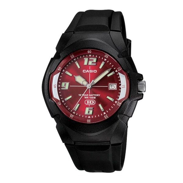Casio Men' 10-year Battery Sport Watch Black Resin Strap