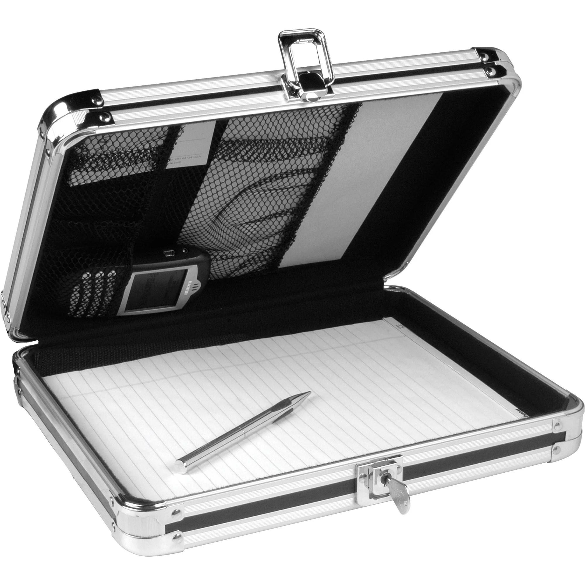 vaultz locking storage clipboard black chrome 1 each quantity