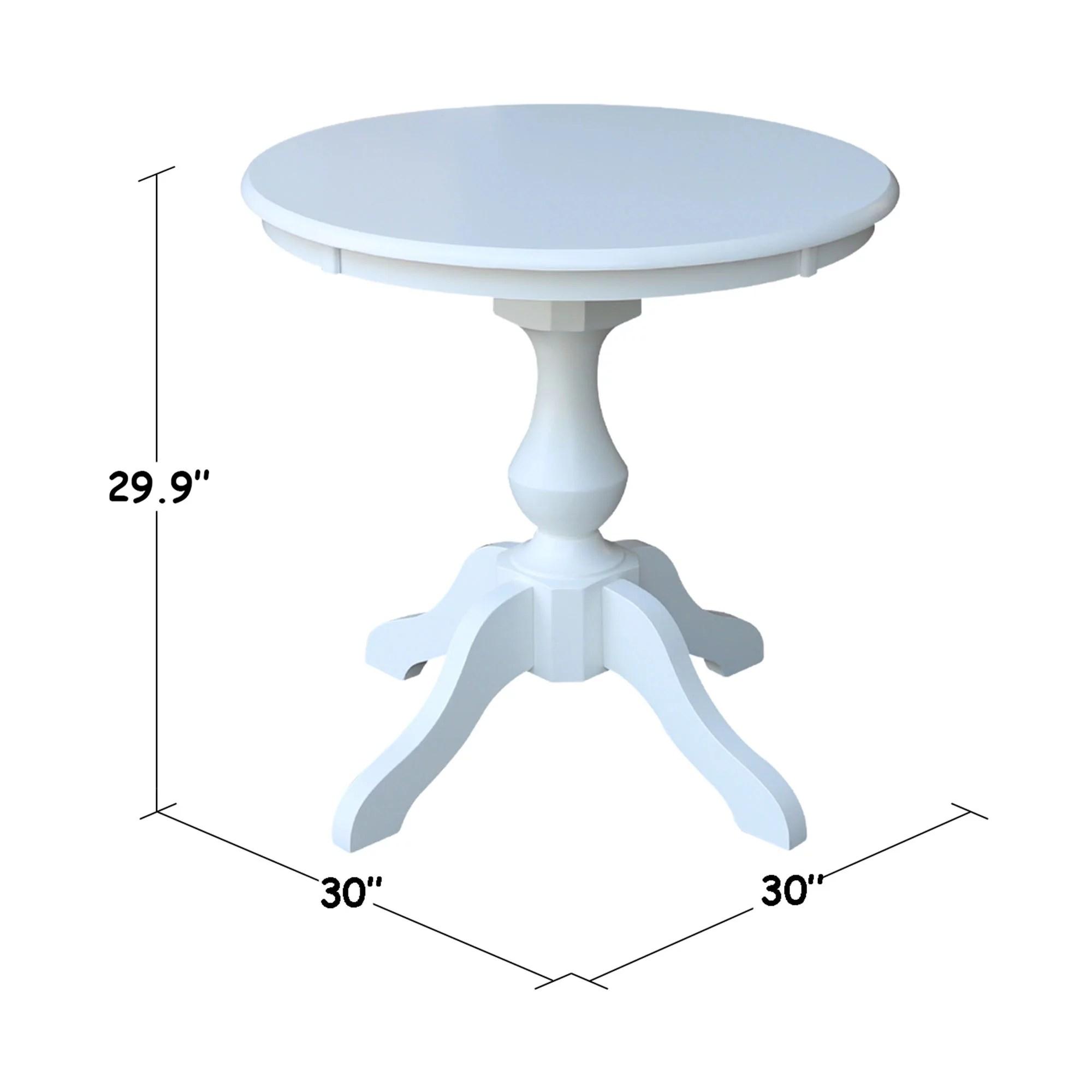 30 Round Top Pedestal Dining Table White Walmart Com Walmart Com