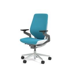 Steelcase Gesture Chair Folding Rental Office Cogent Connect Blue Jay Fabric High Seat Height