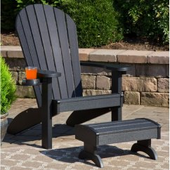 Polywood Adirondack Chairs Office Chair For Sciatica Nerve Pain Bayou Breeze Deniela With Ottoman Walmart Com