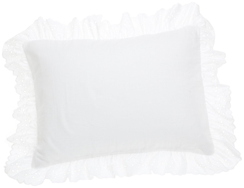 Eyelet Ruffled Pillow 2 Pack Sham King White Pretty