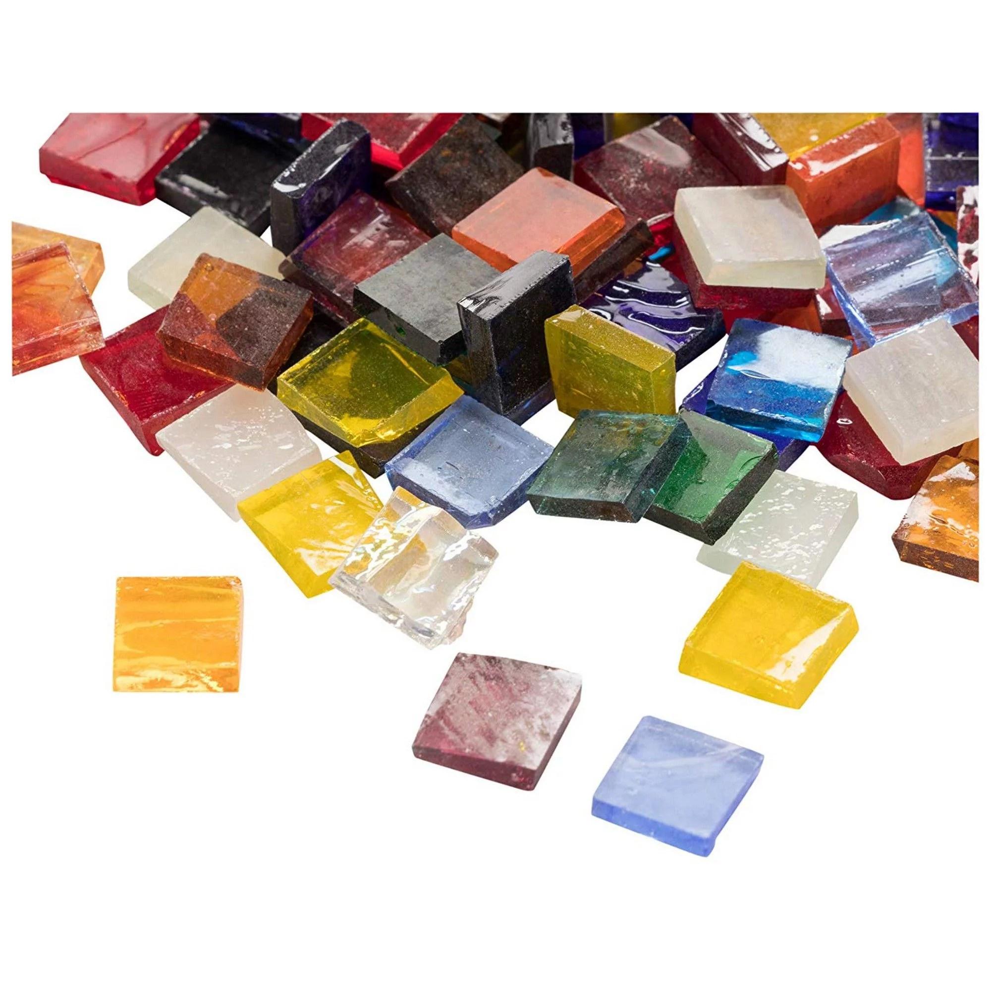 mosaic tiles 1000 pack glass mosaic pieces mosaic chips stained glass mosaic textured glass mosaic for decoration craft diy art projects