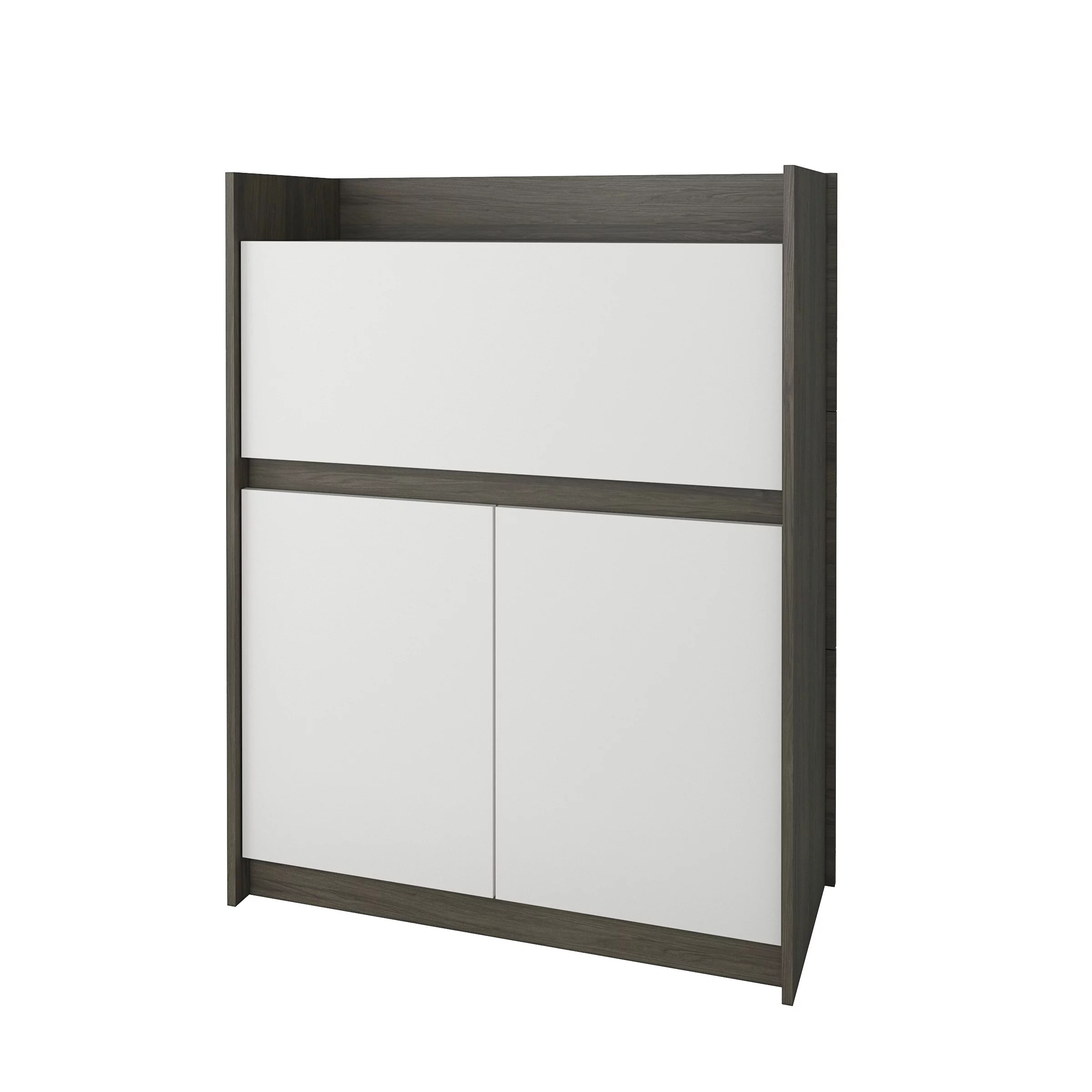 Nexera Chrono Secretary Desk Bark Grey  White  Walmartcom