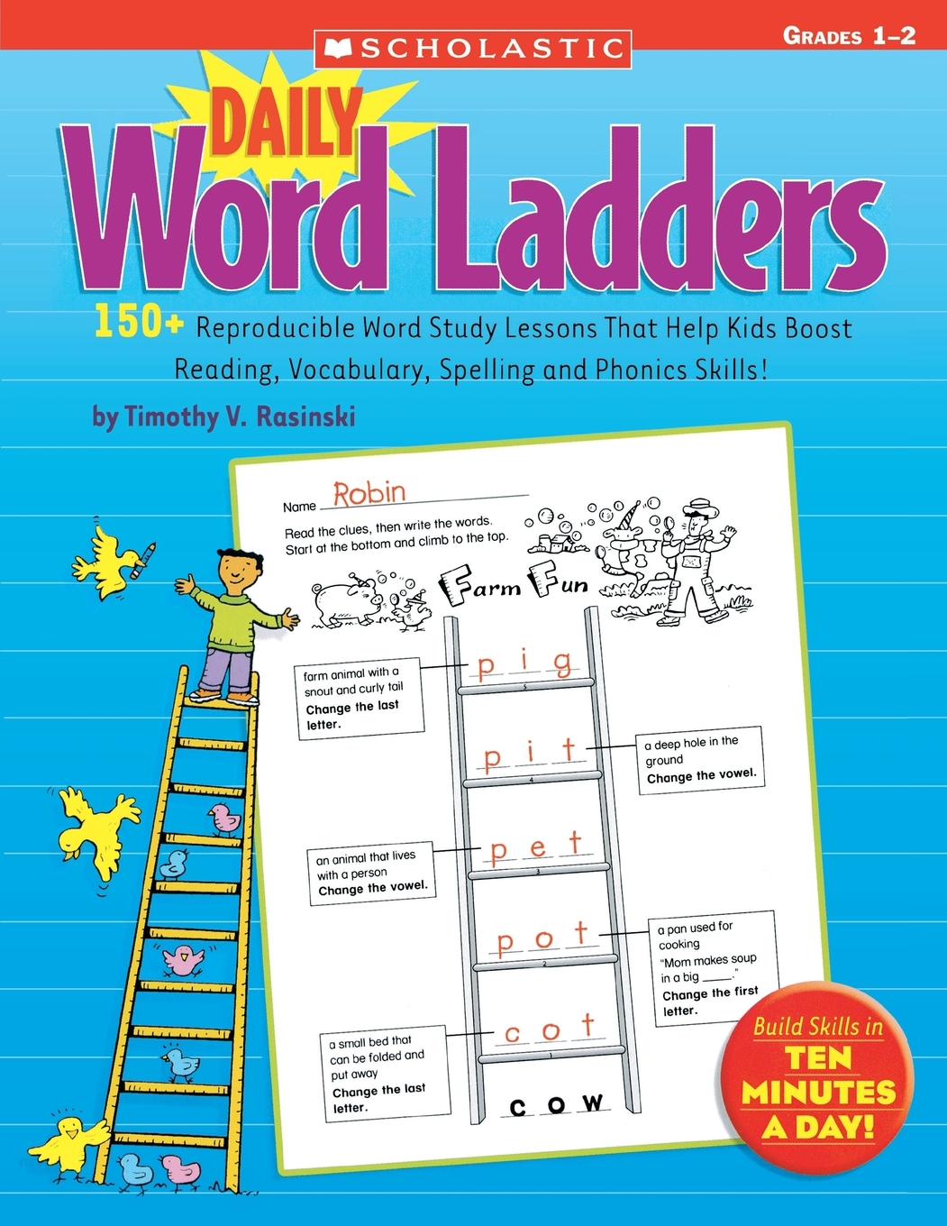 Daily Word Ladders Grades 1 2 150 Reproducible Word