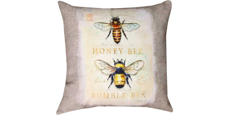 manual woodworkers weavers indoor outdoor throw pillow natural life bee natural history 18 indoor outdoor throw pillow with reversible natural