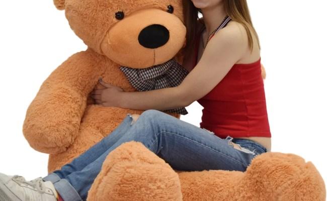 Wowmax 4 Foot Light Brown Giant Huge Teddy Bear Cuddly Stuffed Plush Animals Teddy Bear Toy Doll