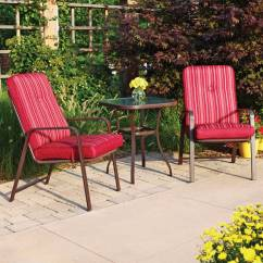 Patio Bistro Table And Chairs Banquet Folding Chair Covers Better Homes Gardens Rose 3 Piece Outdoor Set Walmart Com
