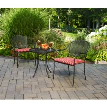 Jordan Manufacturing Wrought Iron Folding 3-piece Outdoor