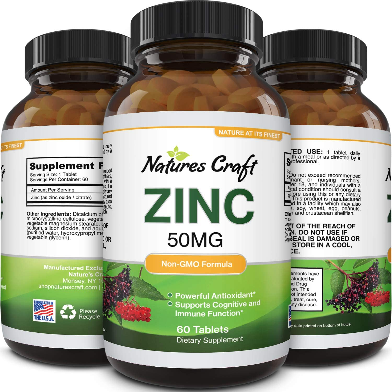Zinc Immune System Booster Supplement 50 mg Supplement for ...