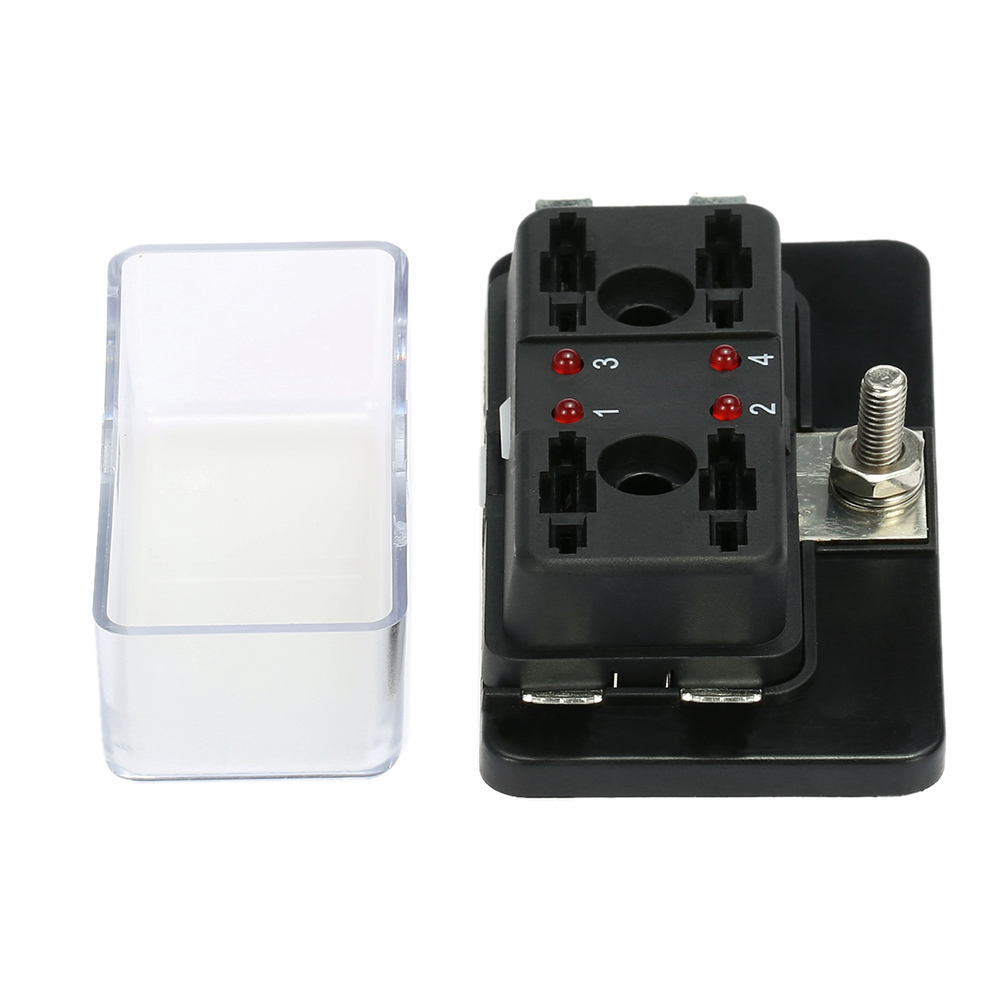 medium resolution of 4 way blade fuse box holder with led warning light kit for car boat marine trike 12v 24v walmart com