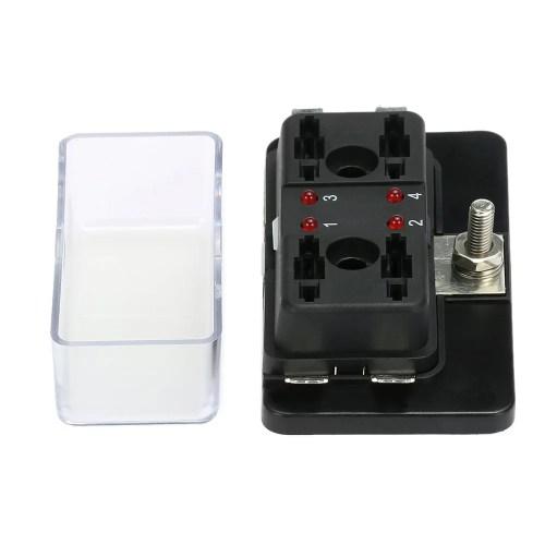 small resolution of 4 way blade fuse box holder with led warning light kit for car boat marine trike 12v 24v walmart com