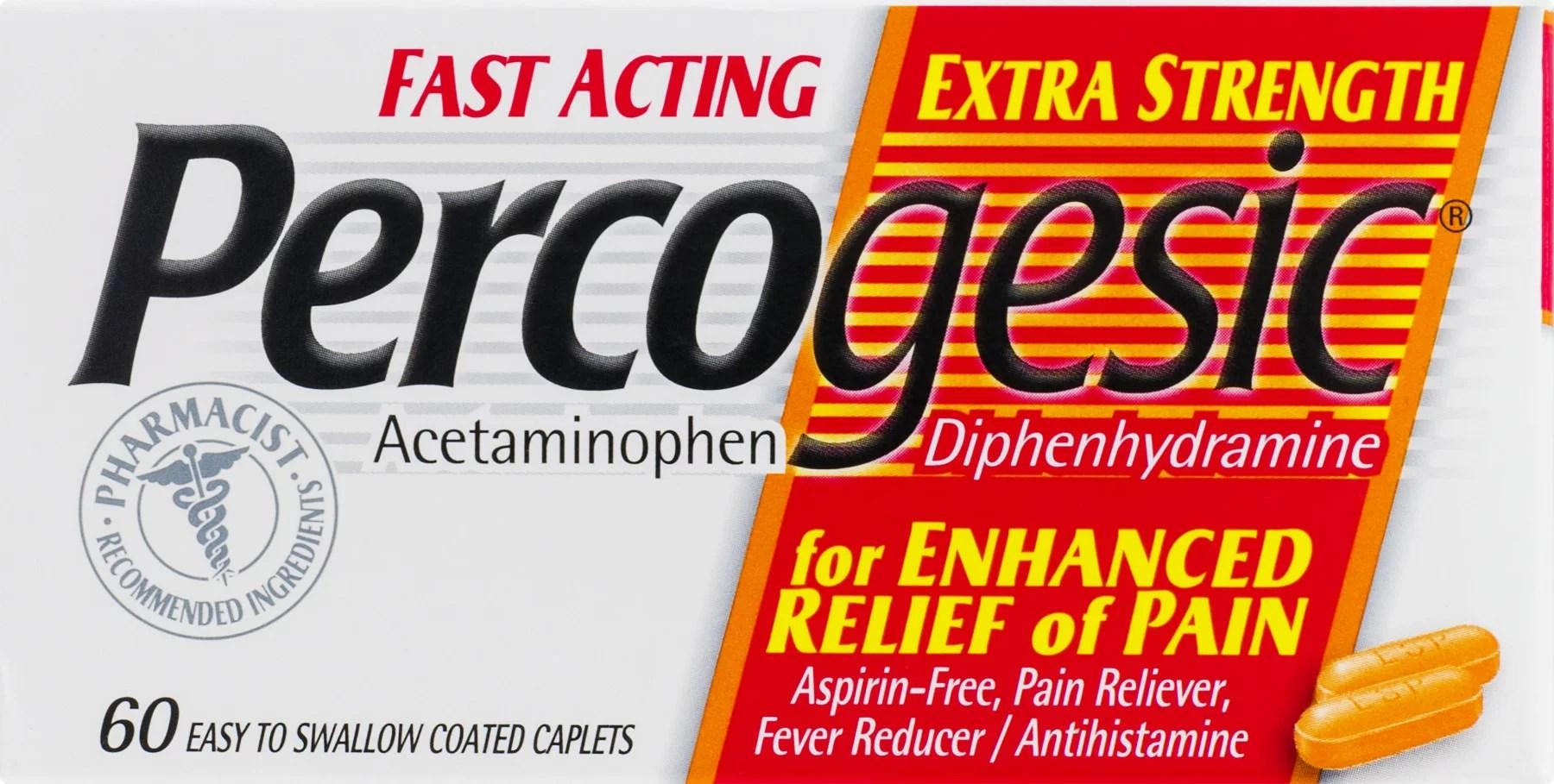 Percogesic Extra Strength 60 Ct Tablet - Walmart.com