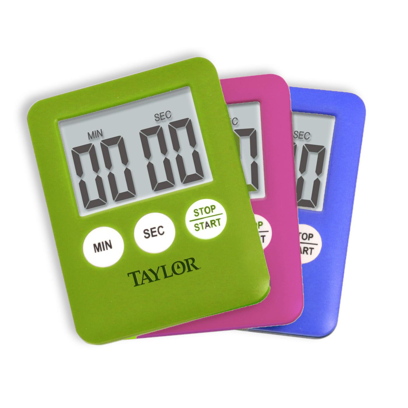 taylor kitchen timer modern white gloss cabinets mini digital assorted colors walmart com